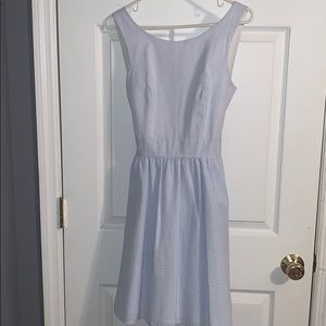 Lauren James White and Blue Striped Dress